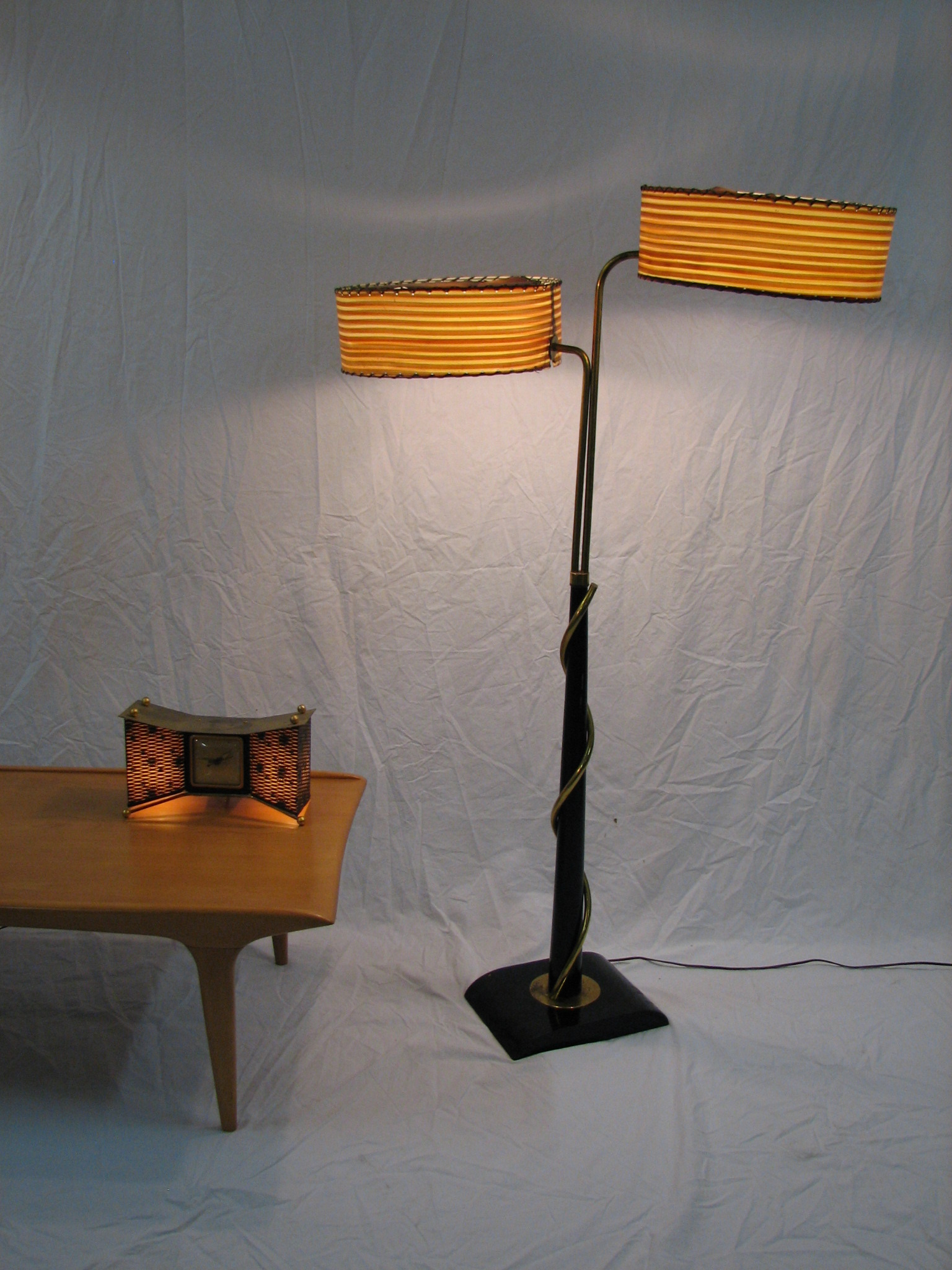 floor lamps shades on 50 s floor lamp 2 shades 1. Black Bedroom Furniture Sets. Home Design Ideas