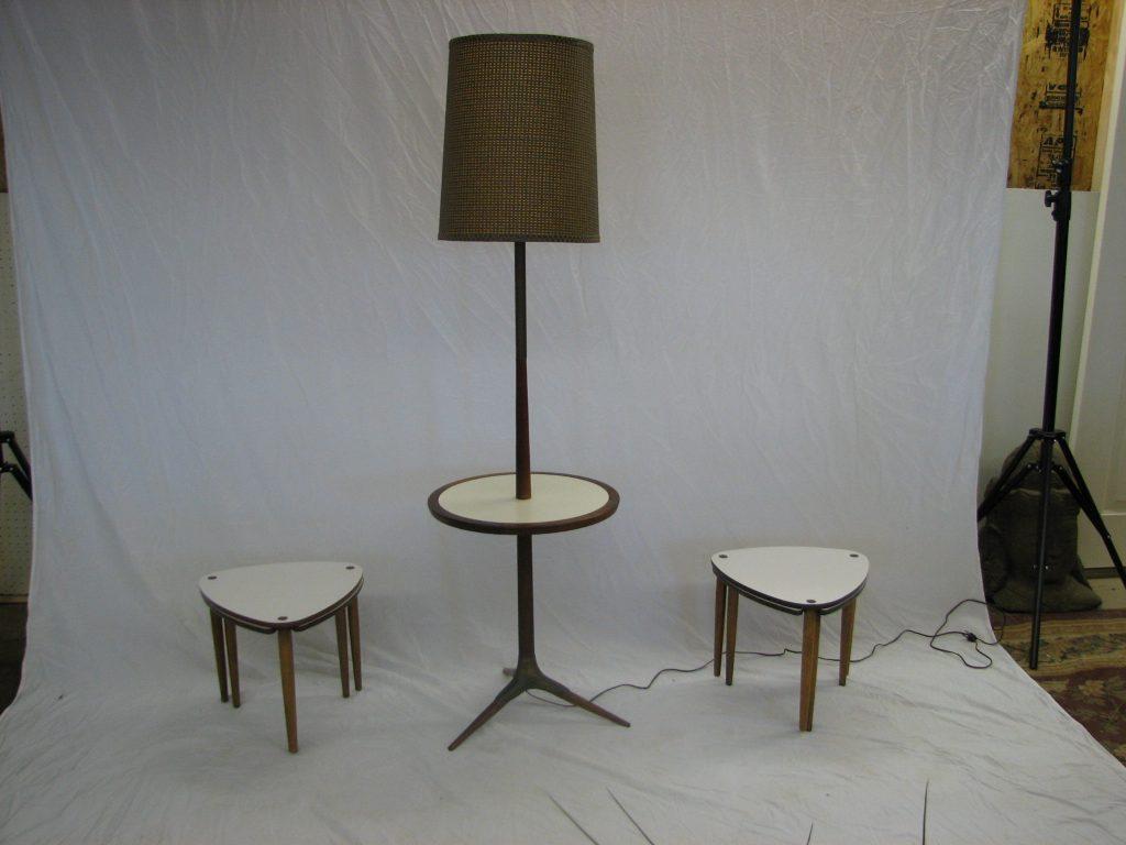 mid century modern floor lamp table setgre stuff. Black Bedroom Furniture Sets. Home Design Ideas